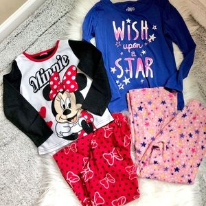 2 Sets flannel pajamas Minnie Mouse and Wish